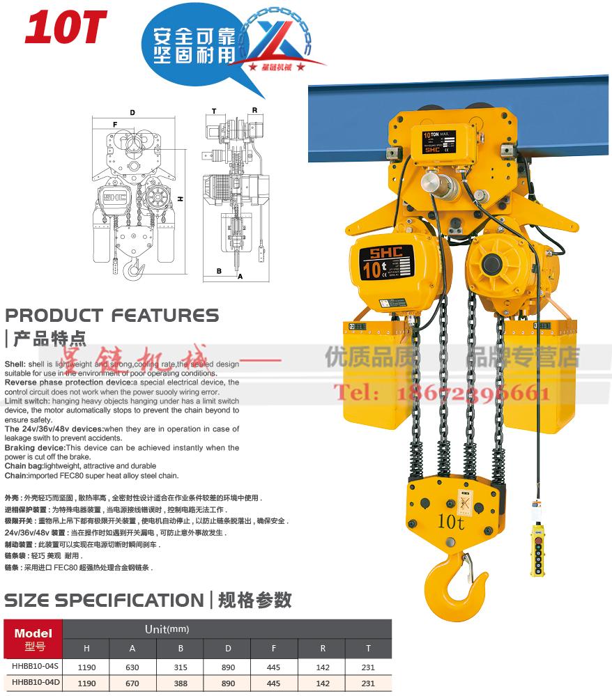 环链电动葫芦10T